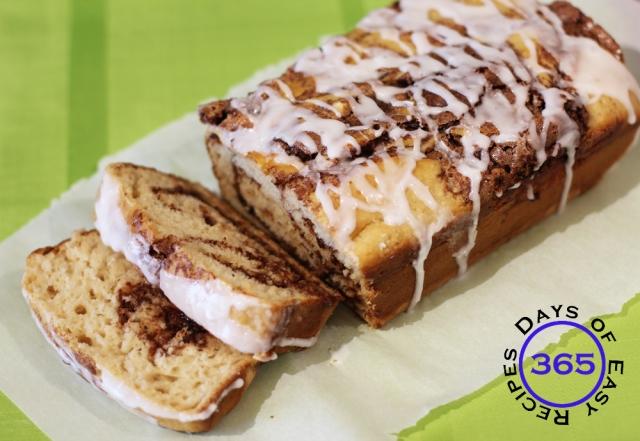 Cinnamon Swirl Cake - a simple and easy substitute for cinnamon buns   365daysofeasyrecipes.com